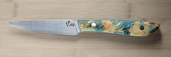 A kitching paring knife made by Matt Selfe