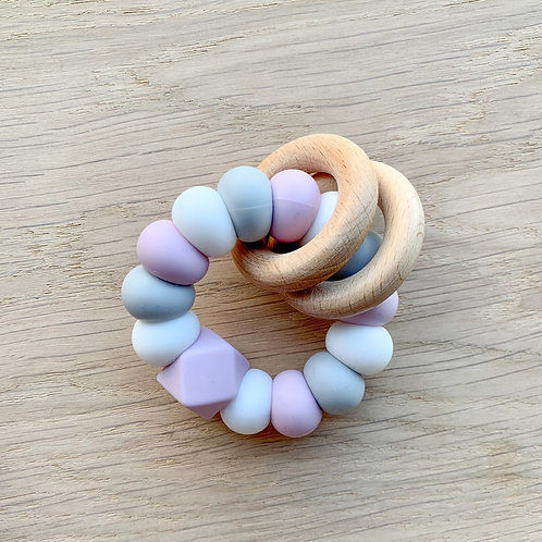 Lilac Silicone Teether