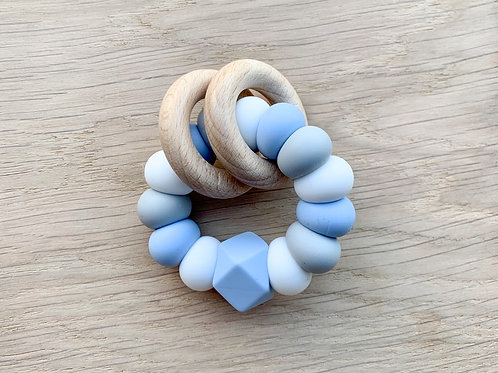 Baby Blue Silicone Teether