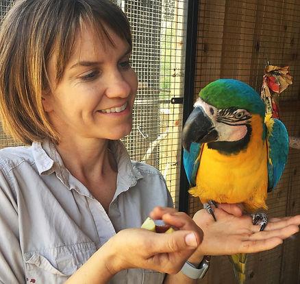 ABI Macaw and Hillary.jpg