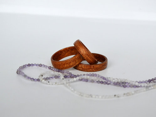 Bague en bois , alliance,  anneau en bois, Platane