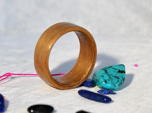 Bague en bois , alliance,  anneau en bois courbé.