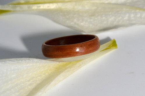 Bague en bois , alliance,  anneau en bois Prunier