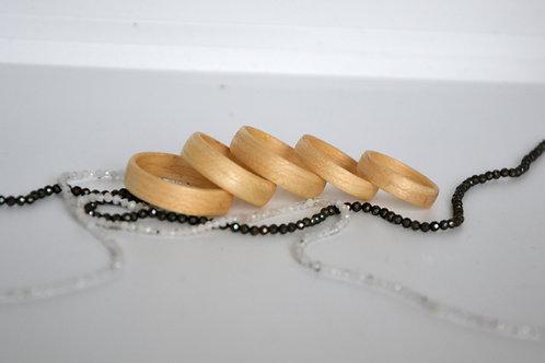 Bague en bois , alliance,  anneau en bois, Érable