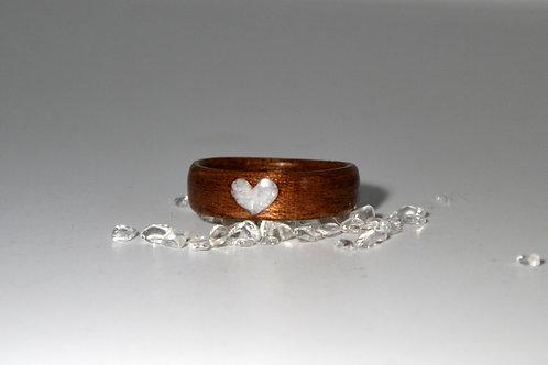 Douceur de cœur,Bague en bois et pierre,alliance,pierre de Lune