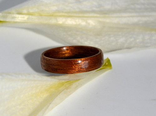 Bague en bois , alliance,  anneau en bois Acajou