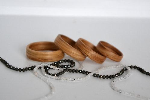 Bague en bois , alliance,  anneau en bois, Chêne