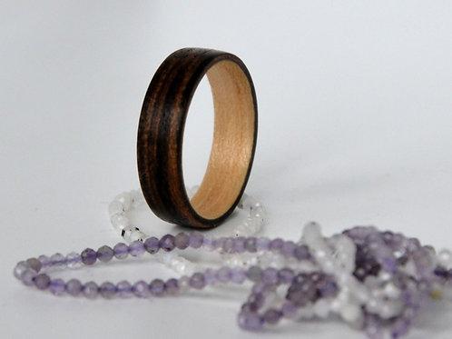 Bague en bois , alliance,  anneau en bois Boucot et Erable