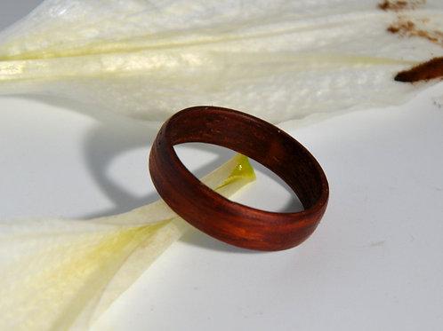 Bague en bois , alliance,  anneau en bois Paduk
