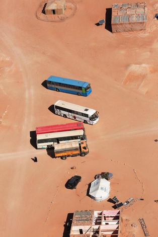 Aerial View of Smara Refugee Camp, Algeria