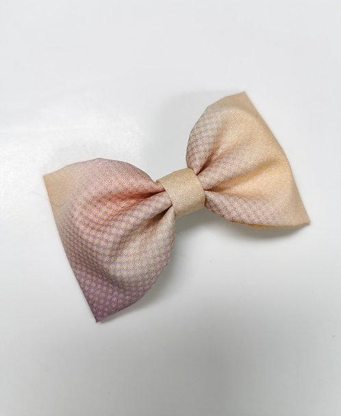 Maxi barrette tie and dye jaune rose