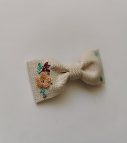 Collab AZBRODERIE - flower turquoise