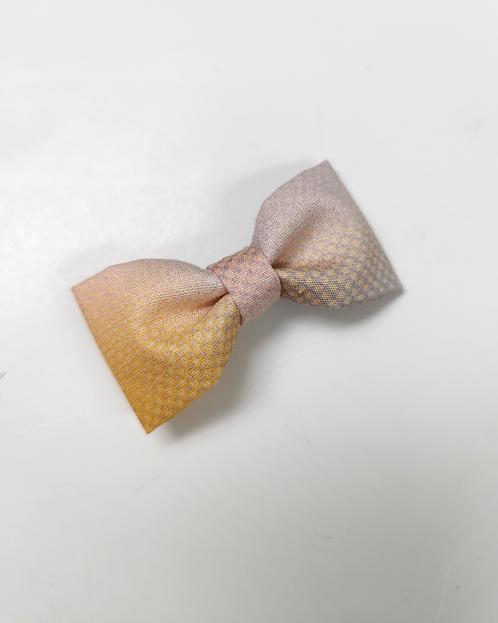 Barrette tie and diy jaune rose