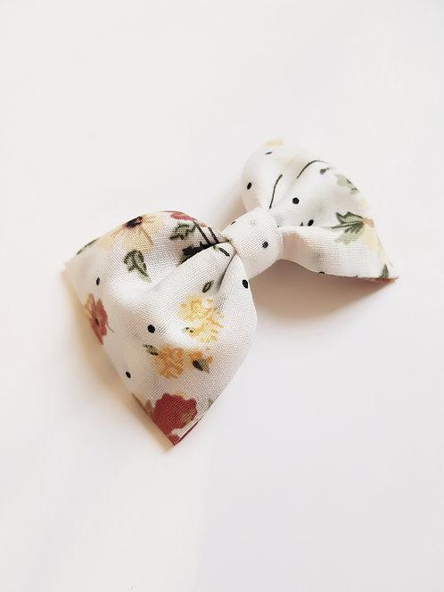Maxi barrette pois fleurs