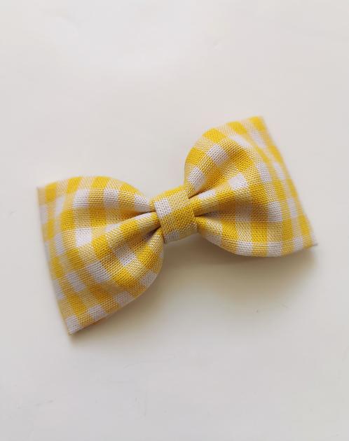 Maxi barrette vichy jaune