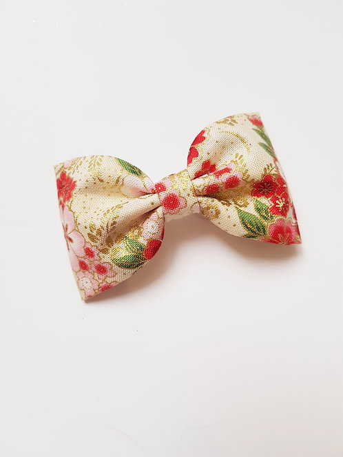 maxi barrette flower glitter or