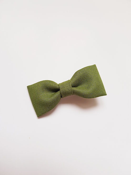 Barrette vert kaki clair