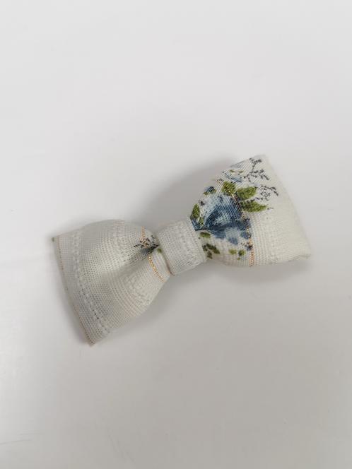 Barrette flower lurex bleu