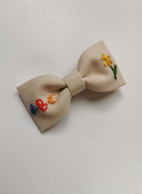 Collab AZBRODERIE - Barrette ABC