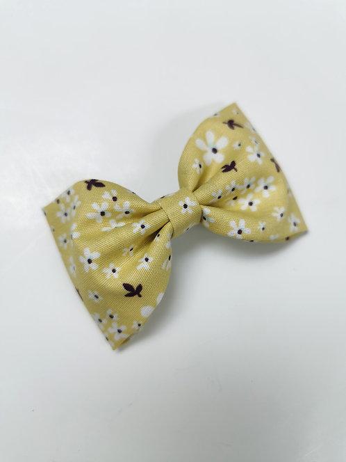 Maxi barrette petites fleurs jaune