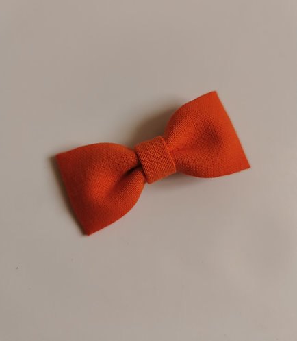 Barrette orange citrouille