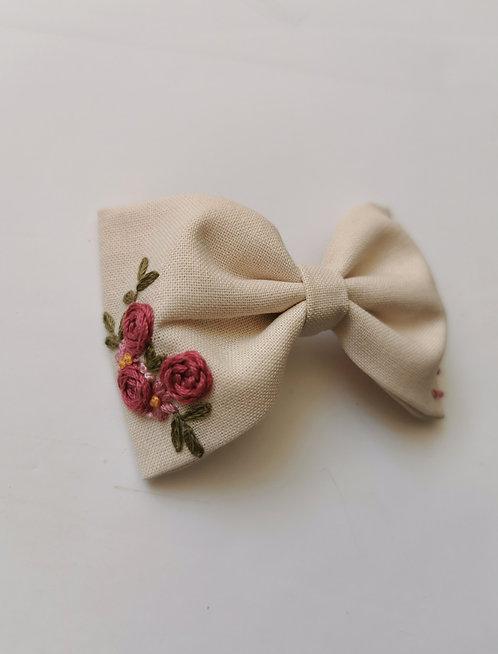 Collab AZBRODERIE - Maxi barrette bouquet romantique