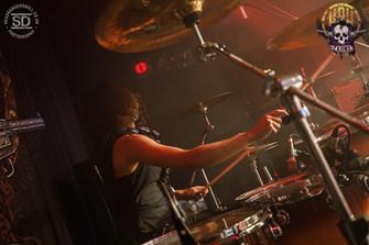 Alex Sanchez playing Drums with Elevation Falls, Dublin, Ireland