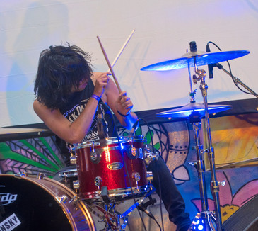 Alex Sanchez playing Drums in a tour with Elevation Falls, Dublin, Ireland