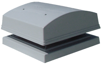 Roof fan with horizontal discharge