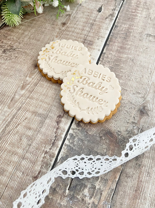 Baby Shower Scalloped Favours