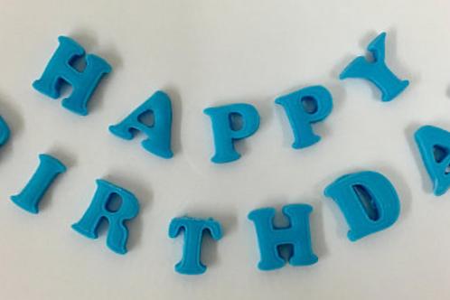 Happy Birthday Fondant Letters