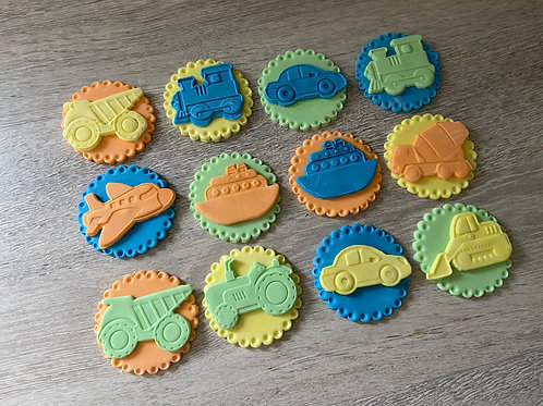 Transport Cupcake Toppers