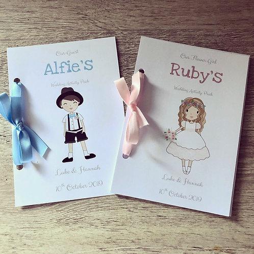 Children's Character Wedding Activity Pack