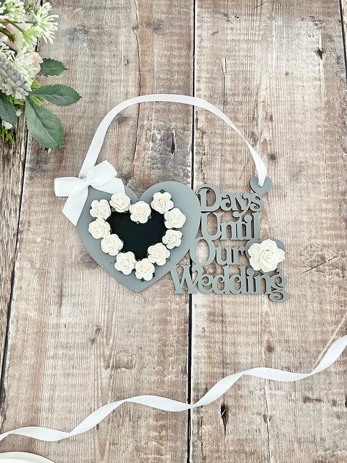 Days Until Our Wedding Plaque
