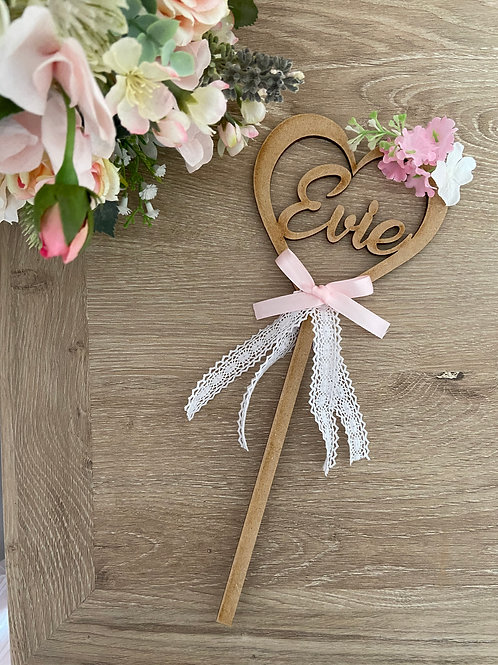 Heart Flower Girl Wands
