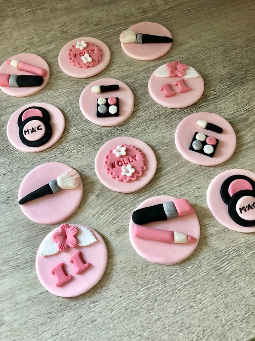 Make Up Cupcake Toppers