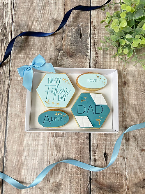 Elegant Fathers Day Biscuit Gift Set