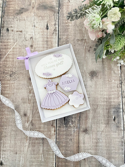 Flower Girl Proposal Biscuit Gift Set