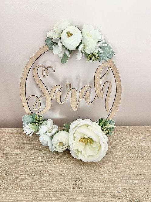 Beautiful Whites Floral Hoop