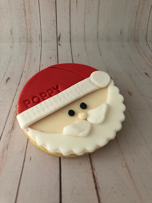 Santa Personalised Cookie