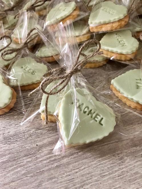 Mini Heart Wedding Biscuits