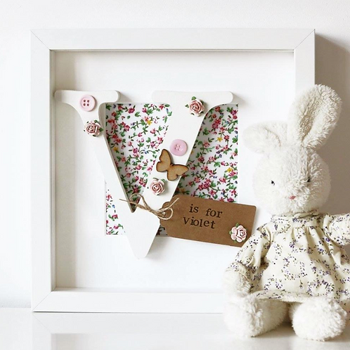 Floral Initial Personalised Frame