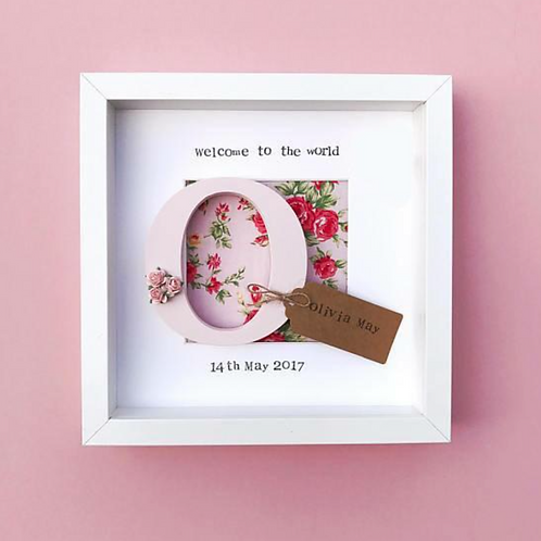 New Baby Initial Personalised Frame