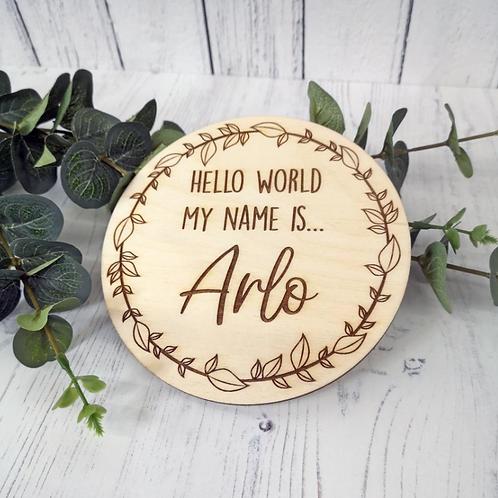 Hello World Engraved Plaque