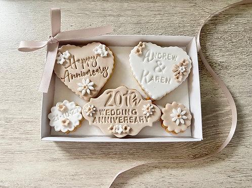 Wedding Anniversary Biscuit Gift Set