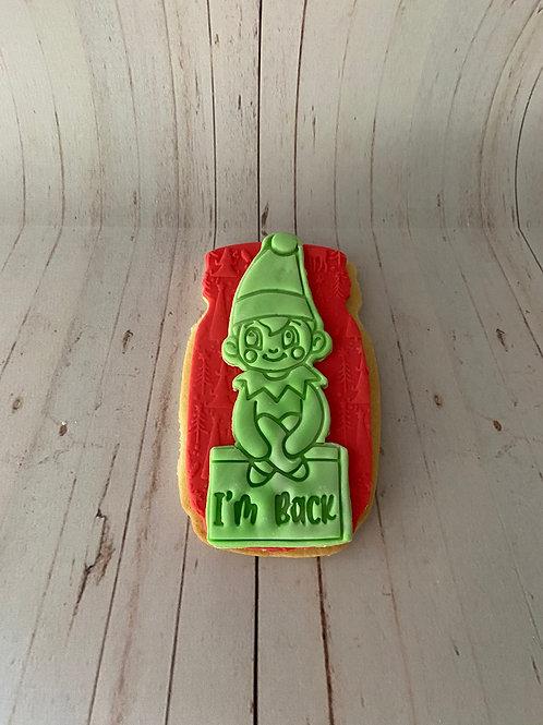 Elf I'm Back Cookie