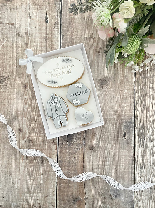 Page Boy Proposal Biscuit Gift Set