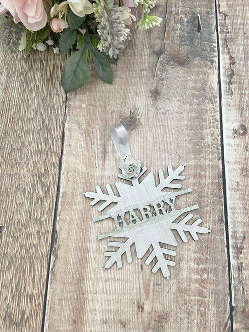 Winter Wonderland - Icy Blue Snowflake Bauble