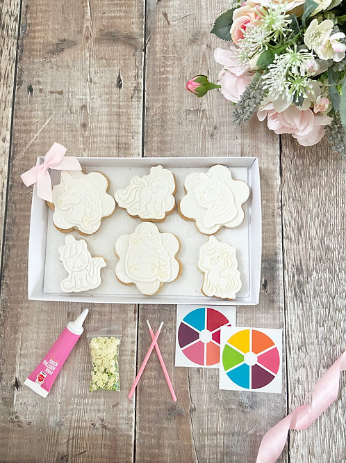 Unicorn Paint Your Own Cookie Kit