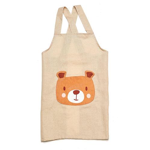 Bear Linen Pocket Apron